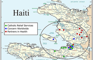 Haiti and earthquake affected areas