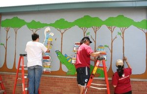 Team ThinkWell volunteering at Andrews Elementary School during EF's spring service day 2009